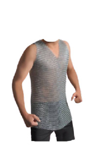 Hosier Aluminium Butted Chain mail T Shirt/Vest Round Ring 10mm Chainmail Armor