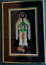 "Very Stylish Art Deco Lithograph Signed ""Jay Dunn"""