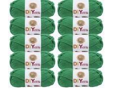 Lion Brand Yarn 205-178 DIYarn, Green (Pack of 10 skeins)