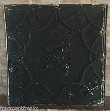 "24""x 24"" Antique Ceiling Tin Tile *See Our Videos* Reclaimed Black Metal G2"