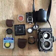 MINT Rolleiflex 3.5F 75mm Planar f3.5 lens FULL KIT with lots of accessories