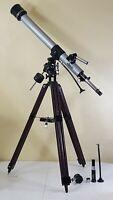 Vintage 1970s Jason 313 Refractor Discoverer 454 Telescope w Wood Tripod EXTRAS