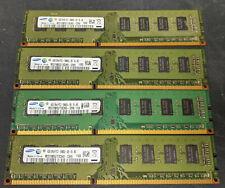 16GB (4x4GB) Samsung DDR3 1333MHz PC3-10600U 240PIN DIMM Desktop Memory RAM LOT