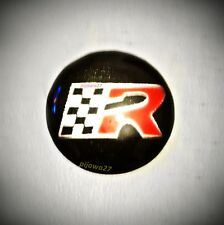 Badge Emblem Sticker Logo for Seat Key Fob Remote Arosa Ibiza Leon Cupra FR R XL