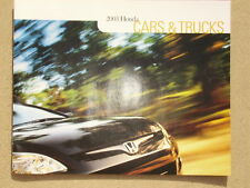 2003 HONDA ACCORD CIVIC  HYBRID S2000 INSIGHT BROCHURE