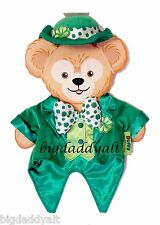 New Disney Parks Duffy Bear St Patrick's Day Irish Green Shamrock Outfit Clothes
