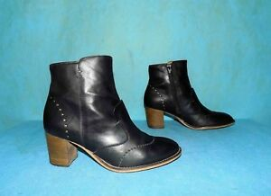 Boots Booties KICKERS Black Leather P 36 Fr