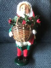Byers Choice Carolers Girl with Basket of Holly 1996