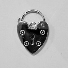 Sterling Silver Padlock heart clasp 18 mm stamped 925. 4 g in weight