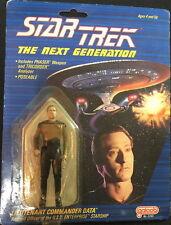 """STAR TREK TNG 1988 Galoob #5340 LT. COMM. DATA Dark Spots Face 4"""" Action Figure"""