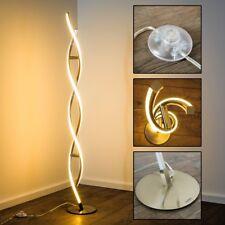 Boden Leuchte LED Design Edelstahl Standlampe Steh Lampe Wohnzimmer Lese Licht