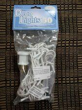 50ct Clear Bulb, White Cord Teeny Bulbs Rice Light Strand String Set