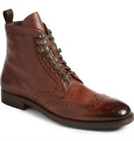 To Boot New York Mens Dark Brown Bruckner Wingtip Boot Size 9.5M  N3273 *