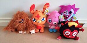 5 X Moshi Monsters Furi, Poppet, Katsuma, Zommer & Diavlo Plush Soft Toys NWT