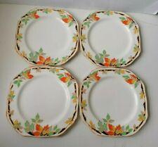 More details for vintage art deco set 4 square side lunch cake plates 1930's garrick j&g meakin