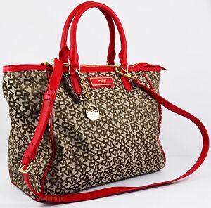 NWT $285 DKNY Heritage W/Saffiano PVC Tote Handbag Convertible Shoulder Bag Gift