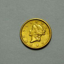 Rare 1851 Liberty Head Gold $1 Early US Gold Dollar Coin Type 1 Dollar Coin !