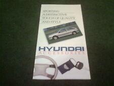 May 1988 HYUNDAI PONY ACCESSORIES - UK COLOUR FOLDER BROCHURE