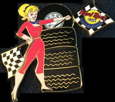 Hard Rock Cafe INDIANAPOLIS 2000 Racing PIT GIRL PIN with RACE FLAGS