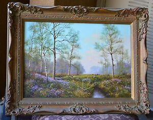 Original British Landscape Oil Painting by James Wright 20 in x 14 in Oil/Canvas