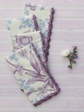 April Cornell Kitchen Napkin Set/4 Grace NWT 100% Cotton Ecru Floral