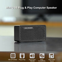 Double Horn USB Wired Speaker Stereo Soundbar For Desktop Computer PC Laptop