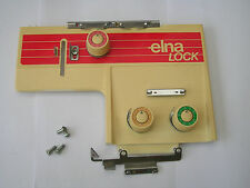 VINTAGE ELNA L-1 OVERLOCKER SEWING MACHINE TENSION UNITS AND COVER