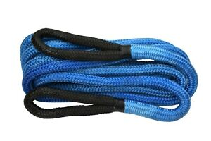 """Blue 7/8""""×30ft Recovery Rope for Truck SUV Tow Rope,Kinetic Rope,Towing Ropes"""