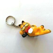 Garfield the Cat Keychain Garfield Figurine Lounging