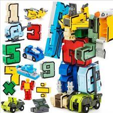 15pcs Number Robot Transformation Alphabet Dinosaur Robot Animal Building Blocks