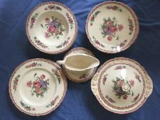 More details for nancy royal staffordshire dinnerware by clarice cliff made in england plates bow
