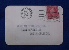 Rare Antique 1919 CA DMV CALIFORNIA DRIVERS LICENSE Motor Vehicle Operators Card