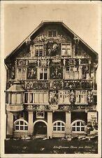 Schaffhausen Schweiz Suisse ~1920/30 Haus zum Ritter Gebäude Fresken Photoglob