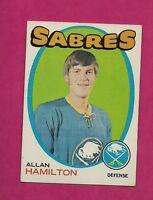 1971-72 TOPPS  # 49 SABRES ALLAN HAMILTON EX-MT CARD  (INV# 8481)