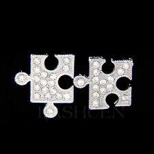 w Swarovski Crystal Jigsaw Puzzle Child Autism Cancer Awareness Earrings Jewelry