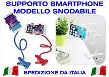 SUPPORTO FLESSIBILE AUTO CASA CLIP UNIVERSALE PINZA PER SMARTPHONE TELEFONO GPS