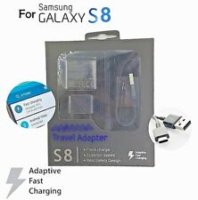 OEM Samsung S9 S8 PLUS NOTE LG ZTE FAST Adaptive Rapid Wall Charger TYPE C CABLE