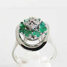 Ring Gold 585er Smaragd Brillant Goldschmuck Edelsteine Diamant Damen 14 kt.