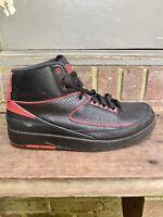 "Nike Air Jordan 2 II Retro ""Alternate '87"" Black Varsity Red SZ 10  834274-001"