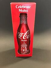 Coca Cola MALTA 2017 'Celebrate Malta' full aluminium bottle in gift box.