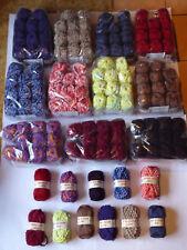 Wolle Konvolut ca 2 Kg Luxus Wolle Lanas Stop Stricken Rüschen verschied. Farben