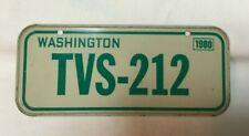 *Vintage Cereal Box Premium Miniature License Plate Tag 1980 WASHINGTON