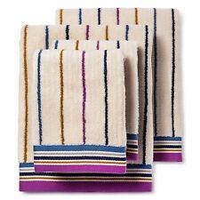 Bedeck 1951 Ila Striped Bath Towel Set Of 4 - Magenta-MSRP 89.99