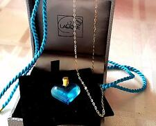 LALIQUE STUNNING FRESH THE MOST STUNNING BLUE WITH HALLMARKED 9CT GOLD CHAIN -