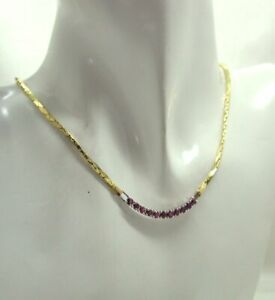 Vintage Beautiful Two Colour 18 carat Gold And Ruby Necklace