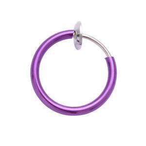 Septum Clicker Nose Ear Ring Captive Hinged Segment Piercing Helix Tragus Opal &