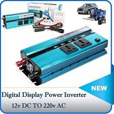 Car 1500W/3000W converter power inverter DC 12V to AC 210V-230V invertor 4 USB