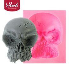 M1087 Halloween Skull Fondant Cake Mold Food Grade Silicone Mold