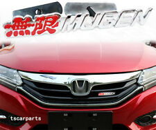 3D Red MUGEN POWER Grill Badge Metal Grille Emblem For Japan Car