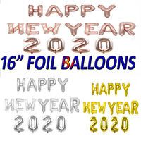 MERRY CHRISTMAS HAPPY NEW YEAR 2020 SELF INFLATING FOIL BALLOON BANNER BUNTING